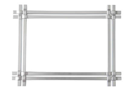 silver photo frame isolated on the white background  Stock Photo
