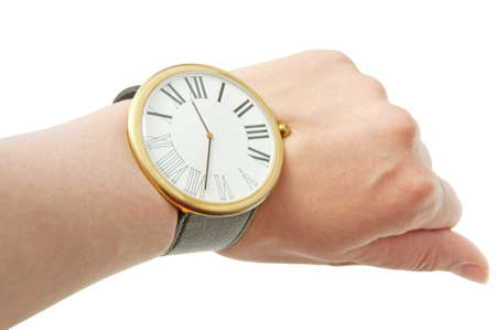 Big watch on the wrist, isolated