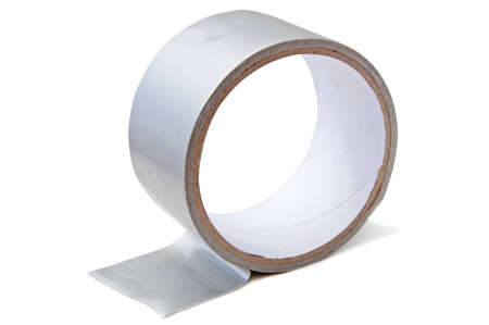 Insulating tape on the white background