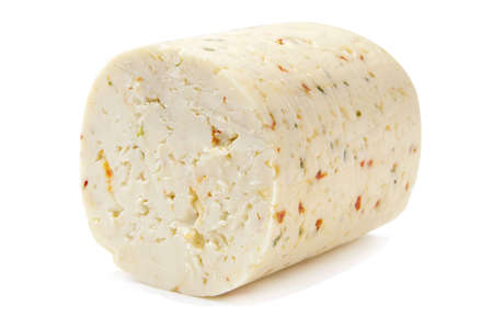 Spicy cheese on the white background