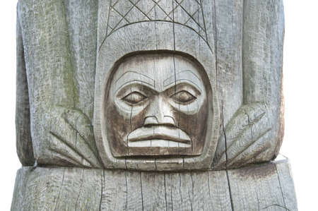 canada aboriginal: north america indian totem isolated
