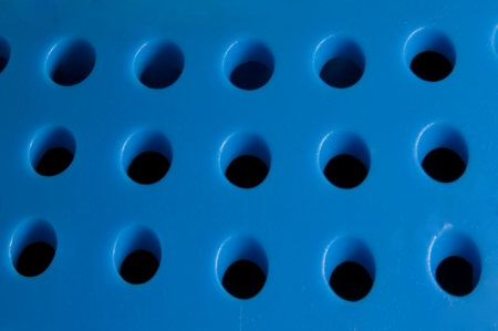 the holes of blue loudspeaker