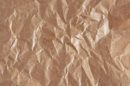 background of brown rumpled paper Stock Photo