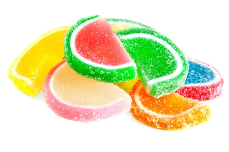 the fruit jelly candies isolated