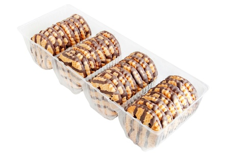 cookies in the plastic box Stock Photo - 17573923