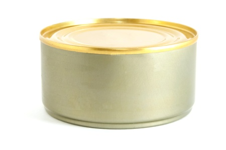 the isolated can of tuna fish