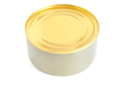 flack: Isolated can with tuna fish Stock Photo