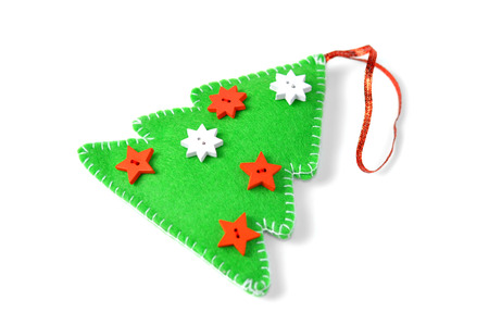A Christmas tree ornament, isolated