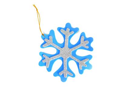 Isolated Christmas ornament, snowflake Stock Photo