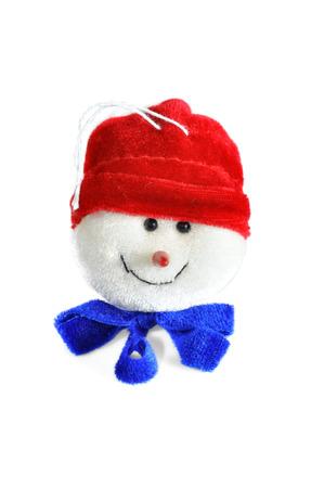 Isolated Christmas ornament, snowman Stock Photo