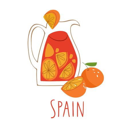 Vector symbols of Spain Sangria.