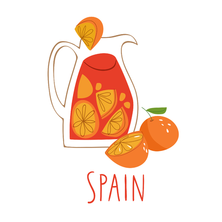 Vector symbols of Spain Sangria.