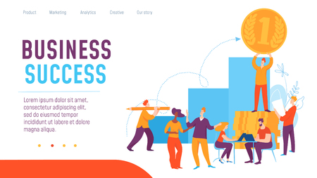 Vector concept business concept creative business illustration with working people.