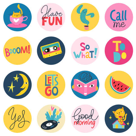 Seamless modern style background for textile or paer in cute pop art style with circles. Illustration