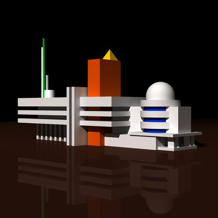 Architecture 3D abstract model Stock Photo - 5305786