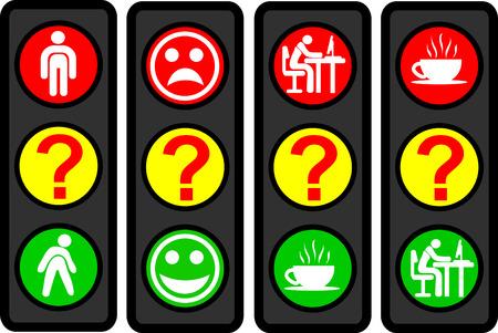 affliction: 4 Questions traffic light