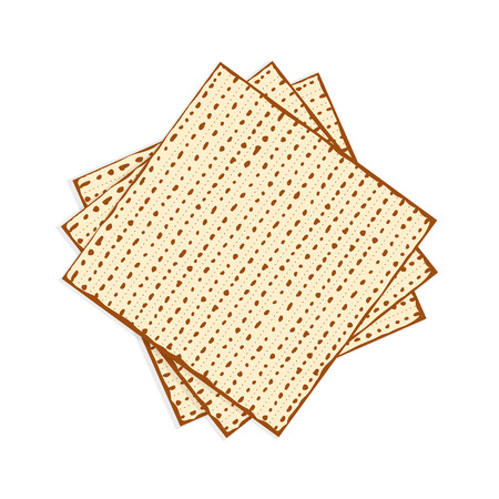 Passover matzah, unleavened bread vector illustration