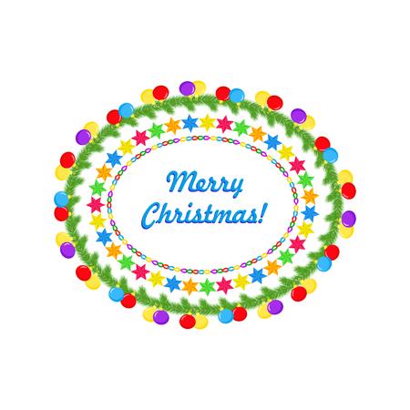 Christmas oval frame 스톡 콘텐츠