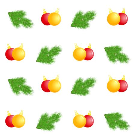 Christmas balls seamless pattern 스톡 콘텐츠