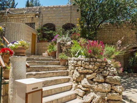 The Garden Tomb, site of pilgrimage in Jerusalem, Israel 스톡 콘텐츠
