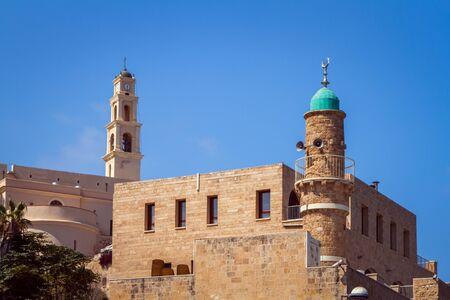 St. Peters Church, Al-Bahr Mosque in Old Jaffa, Israel