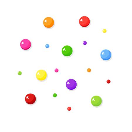 Dragee candies, candy balls