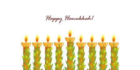 Holiday of Hanukkah, Hanukkah menorah, nine-branched candelabrum