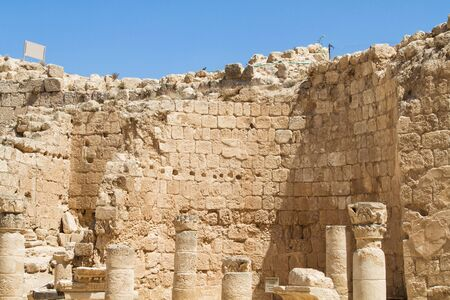 Ruins of Herodium, palace fortress in Israel