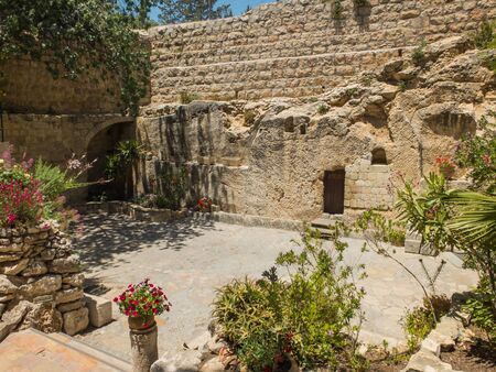 The Garden Tomb, rock tomb in Jerusalem, Israel