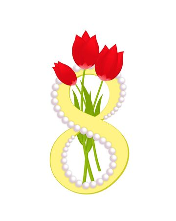 8 March, Happy womens day, greeting card