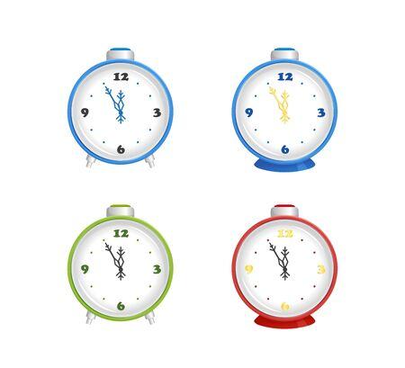 Alarm clocks set, vector illustration
