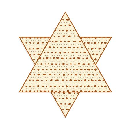 Matzah as Star of David, Passover unleavened bread Illustration