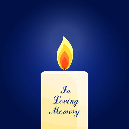 Burning candle on dark background