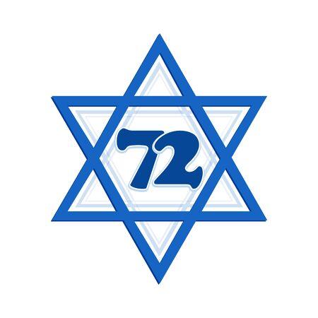 Star of David, Israel Independence Day Illustration