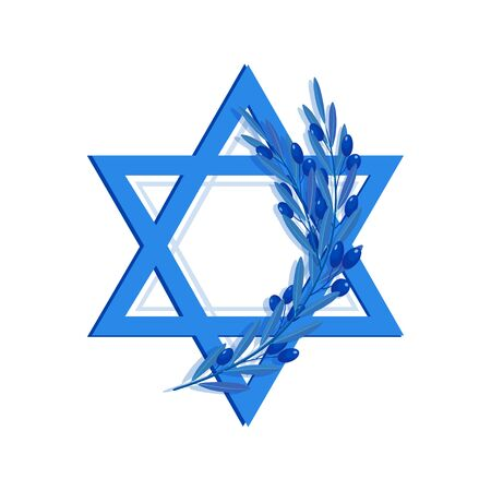 Star of David and olive branch