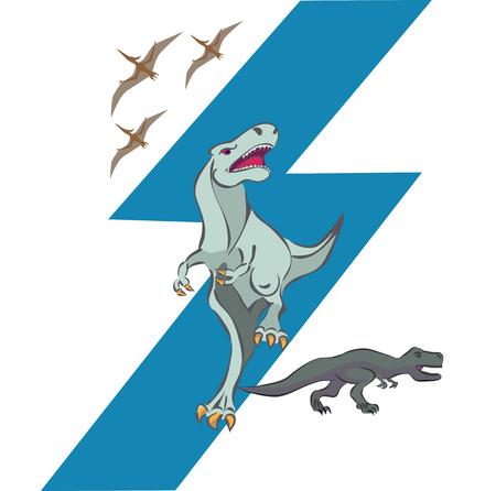 pterodactyl: dinosaurs and pterodactyl