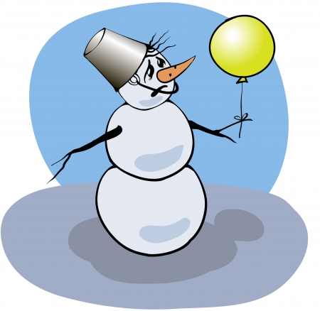 vector colorful Illustration with snowman for your design Stock Vector - 17152182