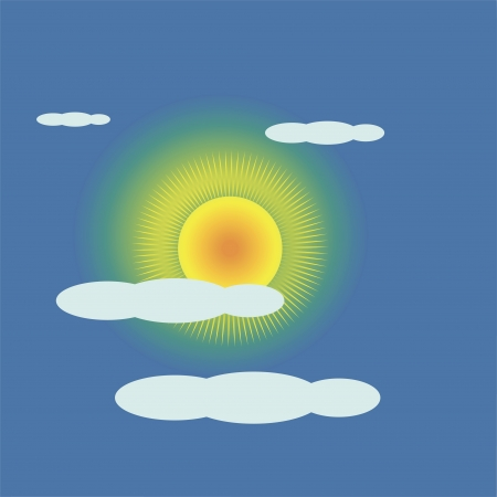 illustration with the sun goes behind a cloud for your design Stock Vector - 17152181