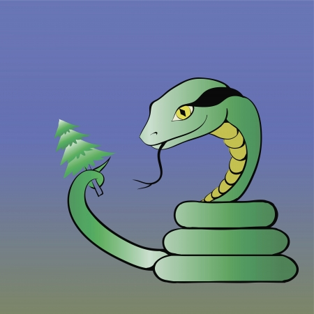 illustration with snake for your design Stock Vector - 17240390