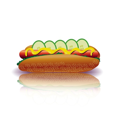 colorful illustration with hot dog for your design Stock Vector - 17709674