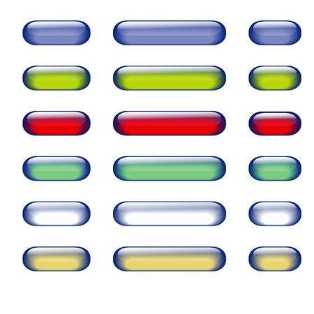 gran angular: dise�o de botones de cristal para su dise�o