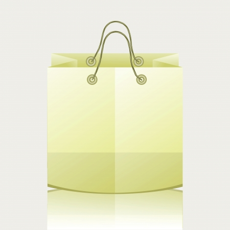 colorful illustration with paper shopping bag for your design Stock Illustration - 18431066