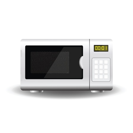 colorful illustration with Microwave for your design
