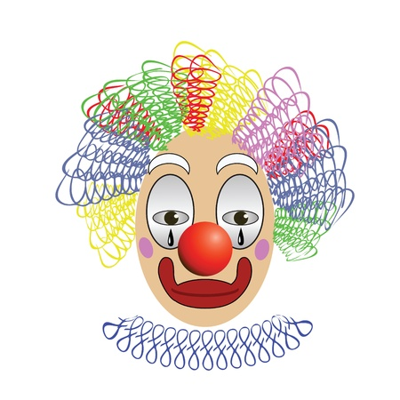 colorful illustration with  clown for your design Illustration