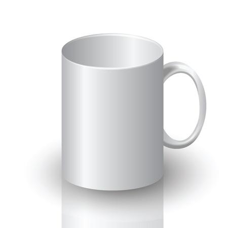 non alcohol: ilustraci�n colorida con la taza blanca para su dise�o