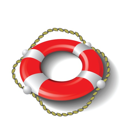 colorful illustration with red lifebuoy  for your design Stock Illustration - 18587147