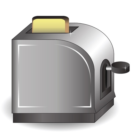 colorful illustration with  toaster for your design