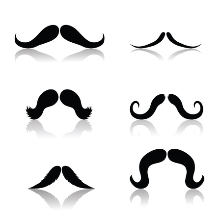 illustration with   mustaches for your design Vector