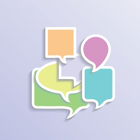 colorful illustration with speech bubbles  for your design Vector