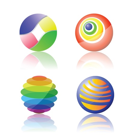 illustration with color spheres for your design Stock Vector - 18791917